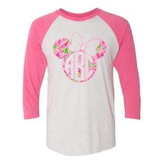 The perfect preppy Disney shirt! Disney World Shirts, Disney Shirts For Family, Raglan Baseball Tee, Raglan Shirts, Disney Monogram, Disney Fun, Disney Ideas, Disney Cruise, Disney Trips