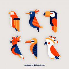 Owl Art, Bird Art, Flat Design, Photo Collage Template, Clay Art Projects, Egypt Art, Vector Freepik, Bird Design, Painting For Kids