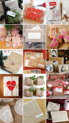 42 inspirational and creative ways to wrap gifts (kraft paper)