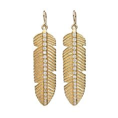 These #Feather #Earrings 😍 #pave cubic zirconia stones set in #22kt gold ✨ #PeppinaOriginals #LoveGivingFreedom