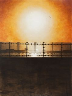 Jamaica Bay from the Cross Bay Bridge 2014 acrylic on canvas x Jamaica, Bridge, Paintings, Celestial, Sunset, Canvas, Outdoor, Tela, Outdoors