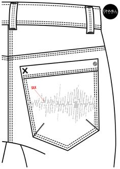 Croquis - Bolsos Masculinos - Inverno 2016 Flat Drawings, Flat Sketches, Fashion Model Drawing, Fashion Sketches, Ladies Cotton Trousers, Denim Flats, Denim Men, Model Sketch, Drawing Clothes