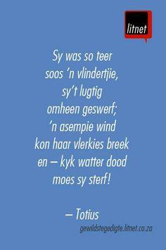 """""""O die pyn-gedagte"""" deur Totius Beautiful Verses, Poetry Books, Afrikaans, Poems, Lyrics, Language, Writing, Sayings, Quotes"""