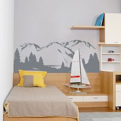 Mountain View Wall Decal - Wallums.com