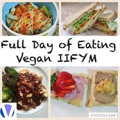 "Full Day of Eating Vegan IIFYM / Vegan Macros Meal 1: Home made Protein Pop Tarts Meal 2: Tofu ""bacon"" BLT Meal 3: Beans on Tofu Scramble with steamed Broccoli Meal 4: @exploreasian Soy bean noodles with mixed veggies topped with spring roll sauce"