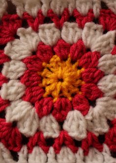 """Sunshine and Whimsy: 6"""" Sunburst Square - Crocheted Afghan Square Pattern"""