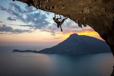 Kalymnos Island, Greece,  in the Dodecanese is known for its history of sponge diving and is a popular destination for rock climbers.