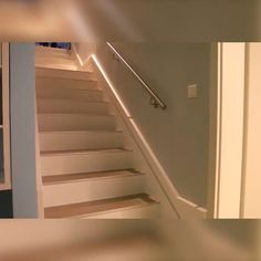 Home Discover These are great! I was tired of looking for light switches in the dark. With this sensor light when I move it turn on itself. Stair Lighting, Home Lighting, New Staircase, Diy Home Repair, Diy Furniture Plans, Home Gadgets, Creative Home, Home Renovation, Diy Home Decor
