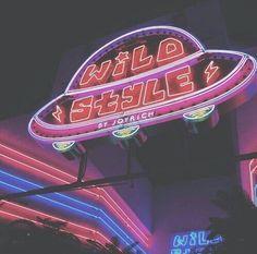 Neon spaceship.