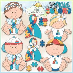Autism Awareness 1 - NE Trina Clark Clip Art : Digi Web Studio, Clip Art, Printable Crafts & Digital Scrapbooking!