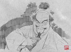 Saito Tsunenori - Sword of The Stranger sketches