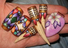 antiqued beads by jaelsjewels, via Flickr