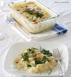 Bacalhau com Natas com Batatas Cozidas