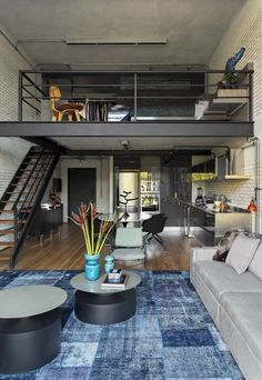25 Amazing Interior Design Ideas For Modern Loft - GODIYGO.COM Loft is an extra space that looks like a second floor, but it is not eligible enough to be said … Loft Estilo Industrial, Industrial House, Vintage Industrial, Industrial Style, Industrial Workspace, Industrial Design, Industrial Bedroom, Kitchen Industrial, Urban Industrial