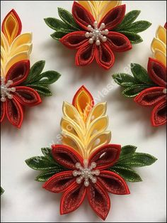 Toilet Paper Roll Crafts - Get creative! These toilet paper roll crafts are a great way to reuse these often forgotten paper products. creative DIY toilet paper roll crafts are fun and easy to make. Paper Quilling Designs, Quilling Paper Craft, Quilling Patterns, Ribbon Art, Ribbon Crafts, Flower Crafts, Kanzashi Tutorial, Flower Tutorial, Fabric Ornaments