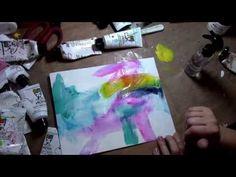 Dina Wakley Flowy Background