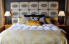 Aprenda a fazer uma elegante cabeceira para a sua cama, sem gastar muito |