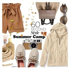 """""""SUMMER Camp Style #2"""" by wynsha ❤ liked on Polyvore featuring Michael Kors, Ray-Ban, Hermès, Keds, Sun Bum, MANGO and L.L.Bean"""