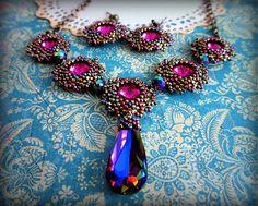 ewinka.w.d. / Kráľovná noci Swarovski, Drop Earrings, Handmade, Jewellery, Fashion, Moda, Hand Made, Jewels, Fashion Styles