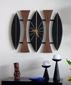 Mid Century Modern Wall Clock Danish Polynesian Eames Turner Wall Accessory or Witco Tiki Era