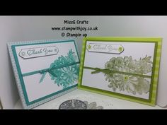 Heartfelt Blooms, tutti frutti cards & envelopes new from stampin up - YouTube