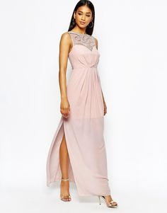 Lipsy+Sweetheart+Maxi+Dress+With+Embellished+Bust