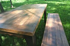 Farm Table Benches Clear Finish Butcher Block by OldWoodNewCharm, $175.00