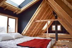 #ravenhouse The main loft bedroom in Raven House is bright, warm and cosy.  http://Airbnb.ca/rooms/16552039