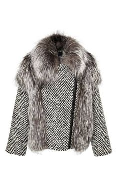 Tweed And Fox Jacket by Rizal for Preorder on Moda Operandi