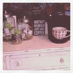 Coffee station: loving the canisters for the kcups
