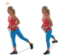 9 Best Bodyweight Exercises For Bad Knees: Resistance Band Alternating Glute Squeeze