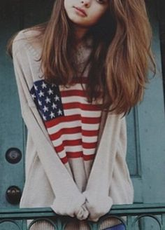 USA sweater ! | sweater weather | cute teen outfit inspiration | tumblr shit