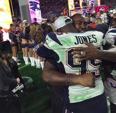 New England Patriots are Super Bowl XLIX Champions; Chandler Jones hugs brother Arthur