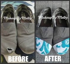 "How to fix ""holy"" TOMS! But I'm going to do this to my bobs."