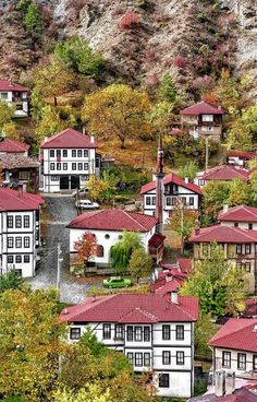 Mudurnu, Bolu, a little and cute village in Turkey ~ traditional houses Orient House, Turkish Architecture, Visit Turkey, Travel Route, World Cities, Turkey Travel, Istanbul Turkey, Holiday Destinations, Holiday Travel