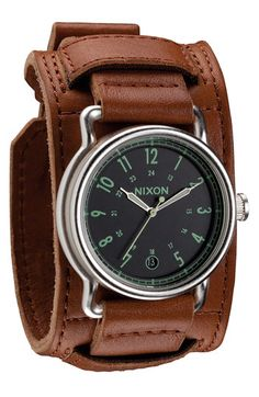 nemesis men s classic stainless steel leather cuff watch by i m looking for a good men s wear watch