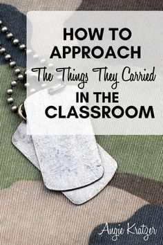 With Tim O'Brien's The Things They Carried, students can practice literary analysis, rhetorical analysis, and creative writing. This unit includes prompts, AP-level material, reading quizzes, and background knowledge builders. Tim O'brien, The Things They Carried, Ap Language, Ap Literature, Ap English, Creative Writing, Lesson Plans, Carry On, Quotations
