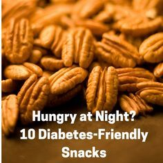 10 Diabetes Friendly Snacks How many times do we all get the munchies after the evening meal and need a lil something to snack on? ALL THE TIME! Do you think diabetes friendly (DF) snacks = no taste? Think again! Here's a list to spark id Diabetic Tips, Diabetic Meal Plan, Diabetic Desserts, Healthy Diabetic Meals, Meals For Diabetics, Diabetic Snacks Type 2, Diabetic Food List, Vegetarian Recipes For Diabetics, Paleo Diet