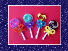 sandylandya@outlook.es PALETAS HECHAS CON LIMPIA PIPAS . LOLLIPOPS MADE WITH PIPE CLEANERS. - YouTube