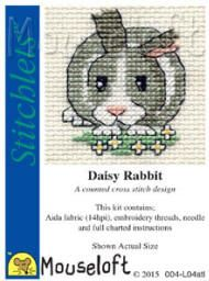 Is this cute or what !! Mouseloft Stitchlets Cross Stitch Kits Daisy Rabbit