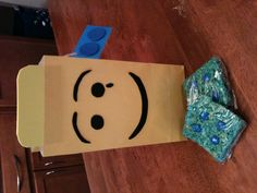 Moving away gift take a picture and frame the street sign original neighbor moving gift party bag foam lego face with lego rice krispies and ms wrapped lego tag construction paper and foam circles solutioingenieria Image collections