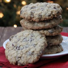 Crisp and chewy oatmeal chocolate chip cookies. A perfect cookie recipe for any time of the year!