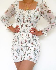 Likes, 50 Comments - Daily Outfits Glam Dresses, Cute Dresses, Casual Dresses, Little Dresses, Short Dresses, Summer Dresses, Floral Dresses, Girly Outfits, Cute Casual Outfits