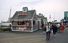 Beavertails - classic Canadian pastries.  Halifax, Nova Scotia