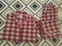 Ladies/Omens  M&S Red Check Long Sleeved pyjama's set size 10  - pajamas's  #ebay