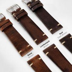 Seal Dark Brown Leather Watch Strap
