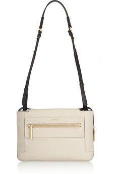 Lanvin Two-tone textured-leather shoulder bag | NET-A-PORTER