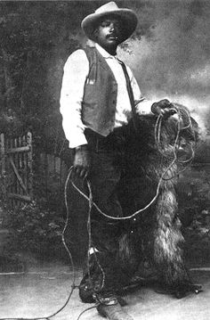 Bill Pickett was a cowboy, rodeo, and Wild West show performer.  He invented the technique of bulldogging, the skill of grabbing cattle by the horns and wrestling them to the ground. With his four brothers, he established The Pickett Brothers Bronco Busters and Rough Riders Association. The name Bill Pickett soon became synonymous with successful rodeos. He did his bulldogging act, traveling about in Texas, Arizona, Wyoming, and Oklahoma.