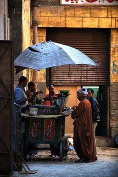 Food vendor, Khan el-Khalili, Cairo, Egypt