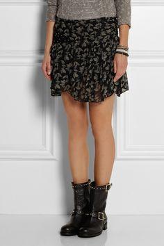 Étoile Isabel Marant | Mini-jupe en georgette imprimée Prune | NET-A-PORTER.COM
